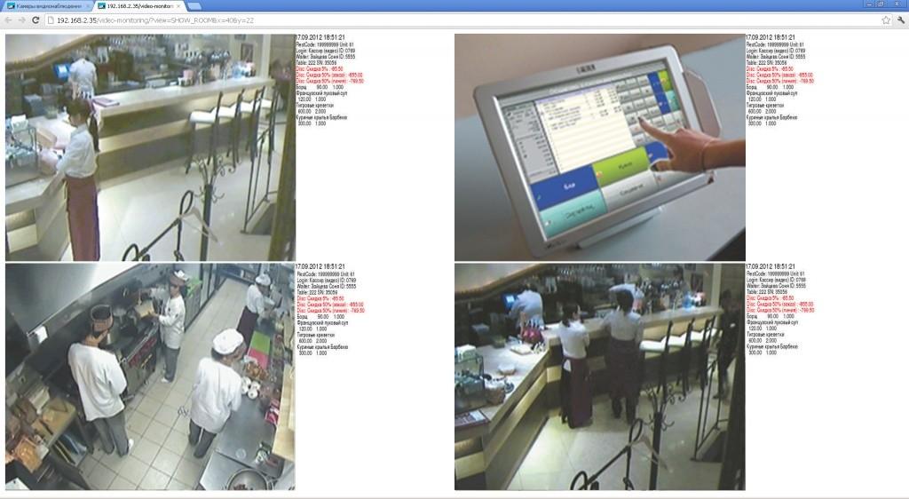 RKeeper Система видеоконтроля